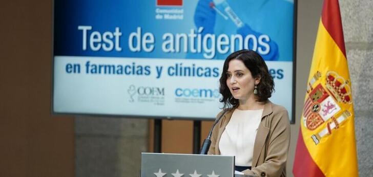 Madrid alcanza acuerdos para realizar test de antígenos en farmacias y clínicas dentales